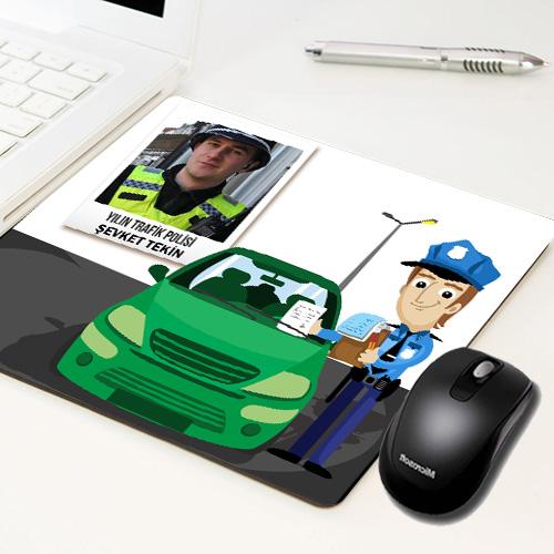 - Polislere Özel Fotoğraflı Mousepad