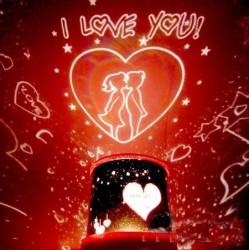 - Projeksiyonlu Romantik Gece Lambası