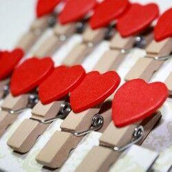 - Romantik Kalp Fotoğraf Mandalları