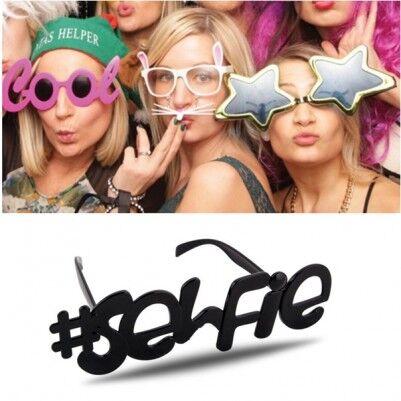 - Selfie Yazılı Parti Gözlüğü