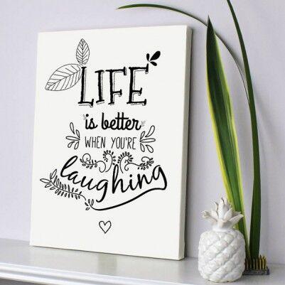 - Sen Güldüğünde Hayat Daha Güzel Kanvas Tablo
