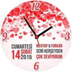 - Seni Her Şeyden Çok Seviyorum Duvar Saati