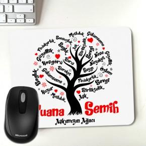 - Sevgililere Özel Aşk Ağacı Mousepad
