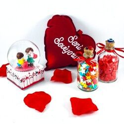 Sevgilime Dolu Dolu Aşk Hediye Sepeti - Thumbnail