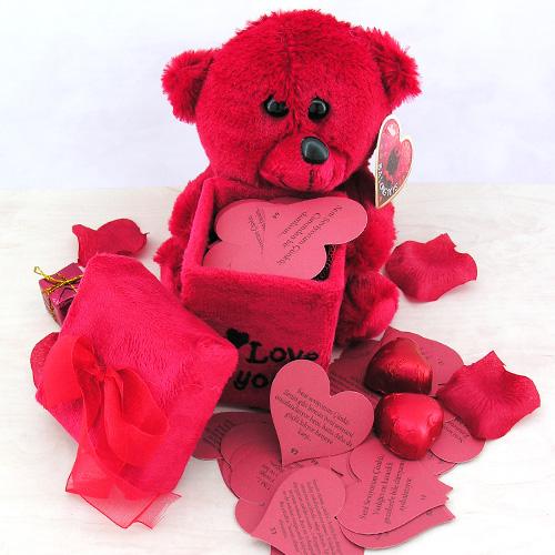 - Sevgiliye 365 Aşk Mesajı Taşıyan Ayıcık