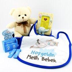 - Yeni Doğan Erkek Bebek Hediye Sepeti