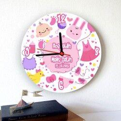 - Yeni Doğan Kız Bebek Duvar Saati