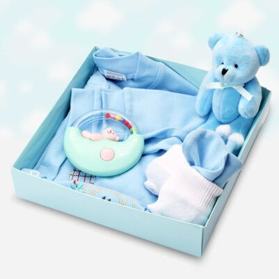 0-3 Ay Erkek Bebeklere Hediye Kutusu - Thumbnail