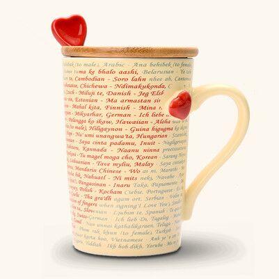 - 100 Dilde Seni Seviyorum Aşk Bardağı
