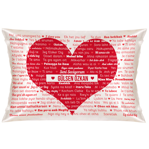 100 Dilde Seni Seviyorum Yastık