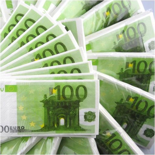 100 Euro Kağıt Mendil