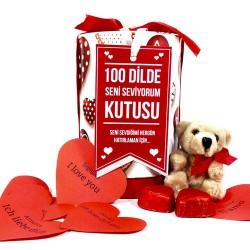 - 100 Dilde Seni Seviyorum Hediye Kutusu