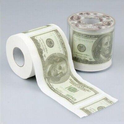 - 100 Dolar Banknotlu Tuvalet Kağıdı