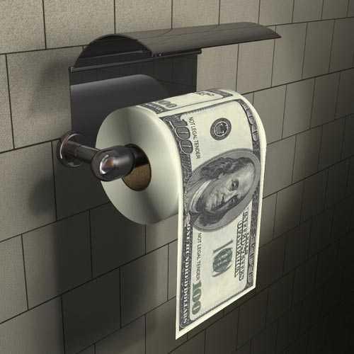100 Dolar Banknotlu Tuvalet Kağıdı