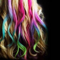 12'li Rengarenk Saç Tebeşiri - Thumbnail