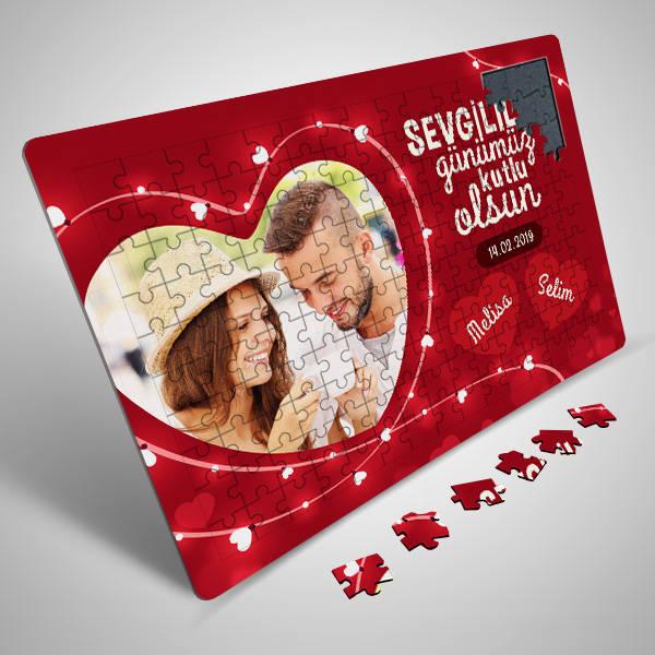 130 Parça Sevgililer Gününe Özel Puzzle