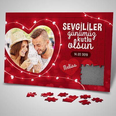 - 130 Parça Sevgililer Gününe Özel Puzzle