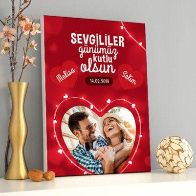 - 14 Şubat Hatırası Sevgililere Özel Kanvas