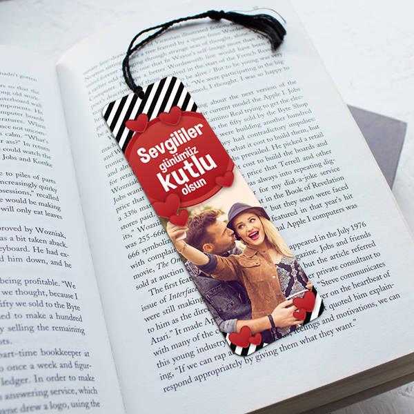 14 Şubat Sevgililer Günü Temalı Kitap Ayracı