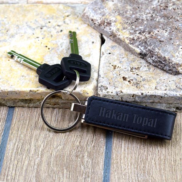 16 GB USB Bellek Deri Anahtarlık