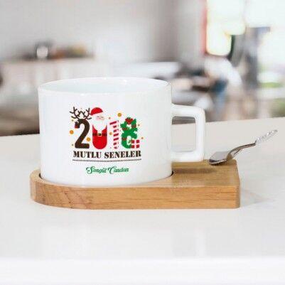 - 2018 Mutlu Seneler Çay Fincanı Seti