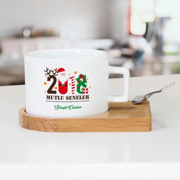 2018 Mutlu Seneler Çay Fincanı Seti