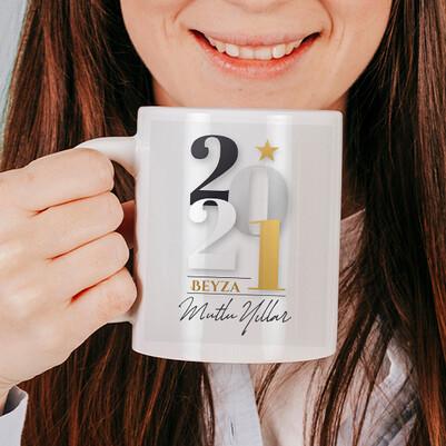 2021 Tasarımlı Yılbaşı Kupa Bardak - Thumbnail