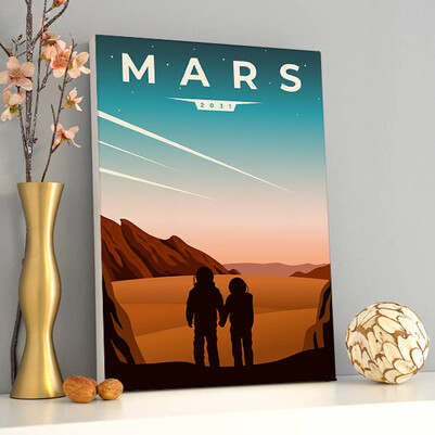 - 2031 Mars Sanatsal Kanvas Tablo