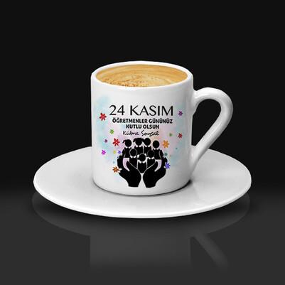 24 Kasım Kutlu Olsun Öğretmen Kahve Fincanı - Thumbnail