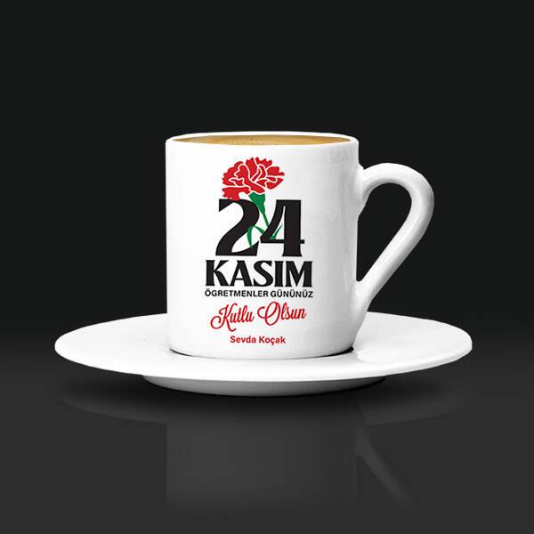 24 Kasım Öğretmene Hediye Kahve Fincanı