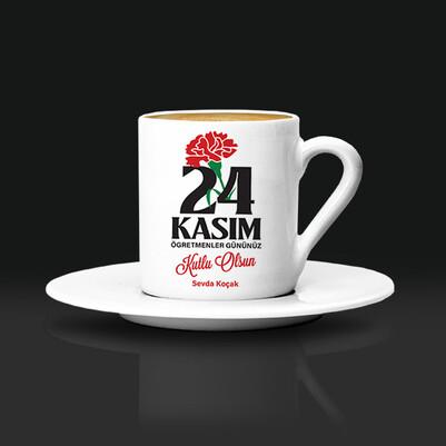 - 24 Kasım Öğretmene Hediye Kahve Fincanı