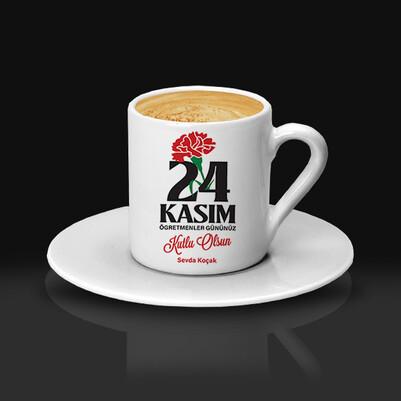24 Kasım Öğretmene Hediye Kahve Fincanı - Thumbnail