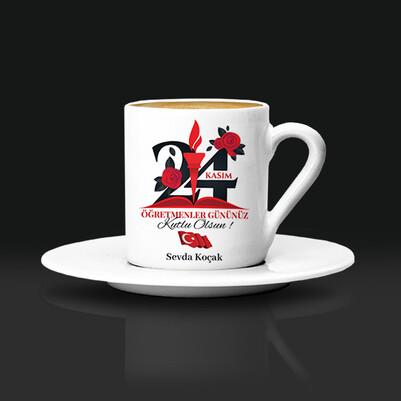 - 24 Kasım Tasarımlı Öğretmen Kahve Fincanı