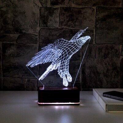 3 Boyutlu Kartal LED Lamba - Thumbnail