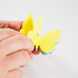 3 Boyutlu Kelebek Yapışkanlı Notluk - Thumbnail