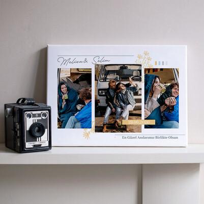 - 3 Fotoğraflı Sevgiliye Hediyelik Kanvas