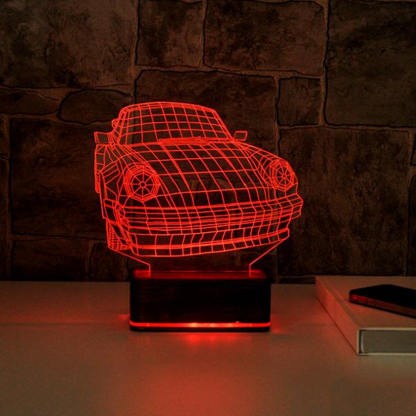 3D Araba Tasarımlı LED Lamba