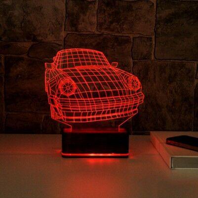 - 3D Araba Tasarımlı LED Lamba