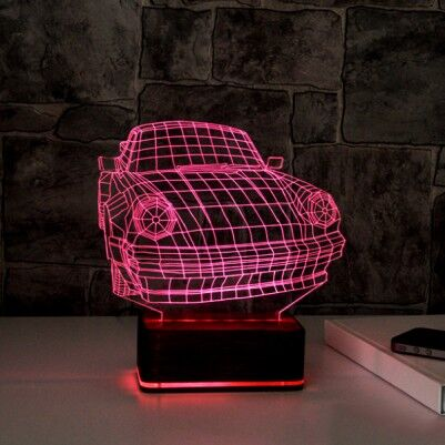 3D Araba Tasarımlı LED Lamba - Thumbnail