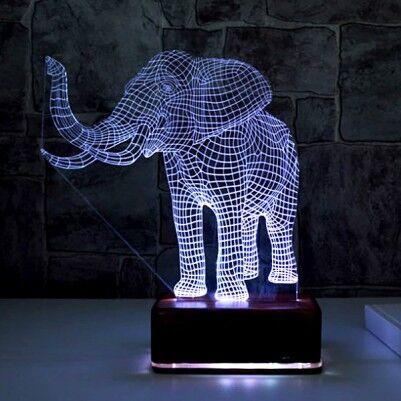 3D Fil Tasarımlı LED Lamba - Thumbnail