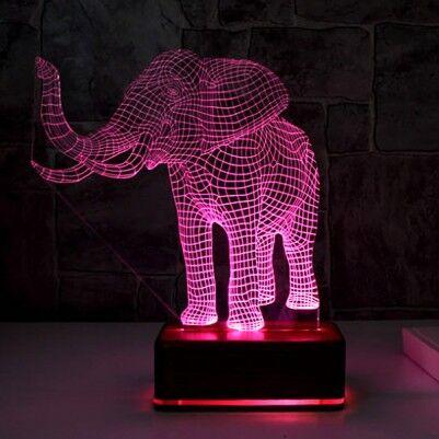 - 3D Fil Tasarımlı LED Lamba