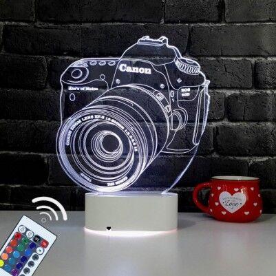 - 3D Fotoğraf Makinesi LED Lamba