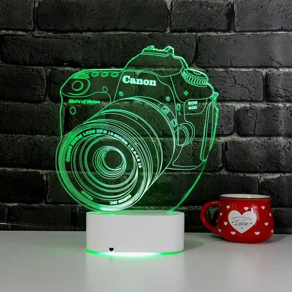 3D Fotoğraf Makinesi LED Lamba