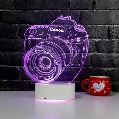 3D Fotoğraf Makinesi LED Lamba - Thumbnail