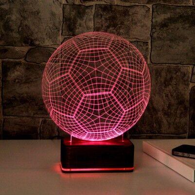 3D Futbol Topu LED Lamba - Thumbnail