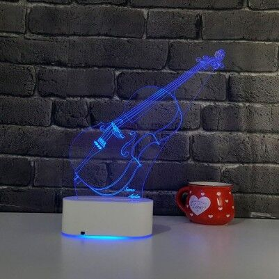 3D Keman LED Lamba - Thumbnail