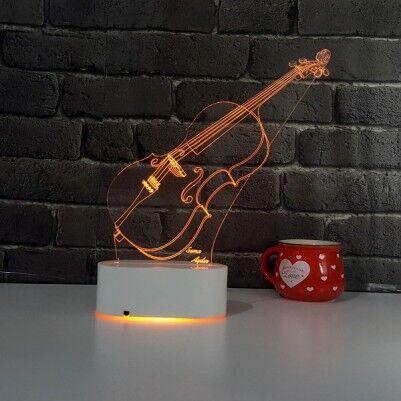 - 3D Keman LED Lamba