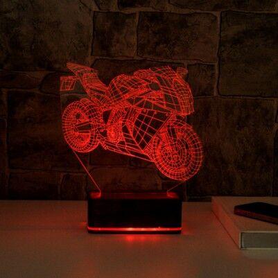 3D Motosiklet LED Lamba - Thumbnail