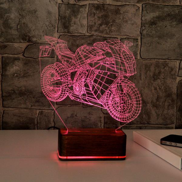 3D Motosiklet LED Lamba