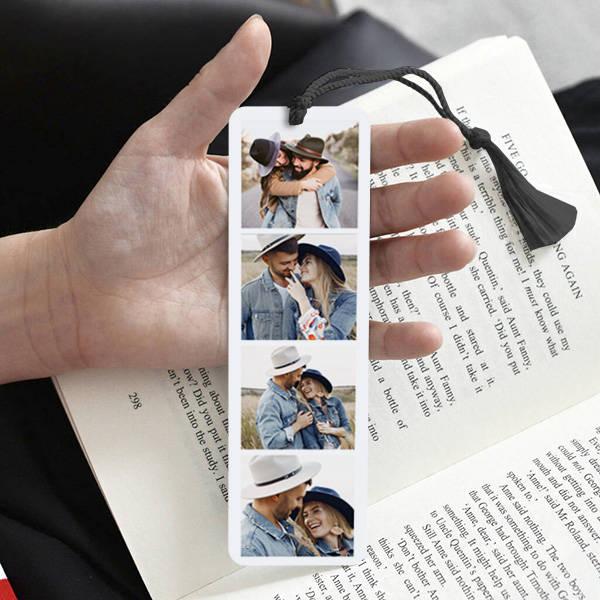 4 Fotoğraflı Kişiye Özel Kitap Ayracı